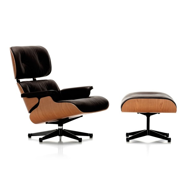 VITRA 'Lounge Chair' Sessel+Ottoman Kirschholz
