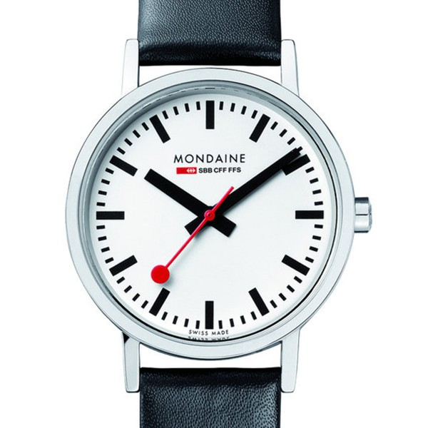MONDAINE 'Classic' Armbanduhr Ø36 poliert