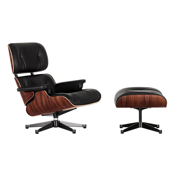 VITRA 'Lounge Chair' Sessel+Ottoman Palisander